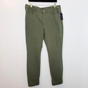 NYDJ Ankle Olive Green Jeans 18